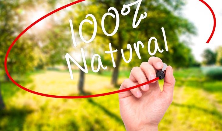 100% Natural Sign