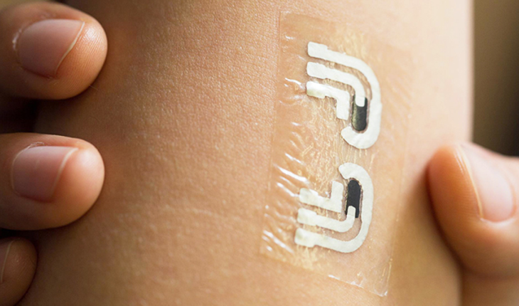 A rub-on temporary tattoo that can measure blood sugar?!