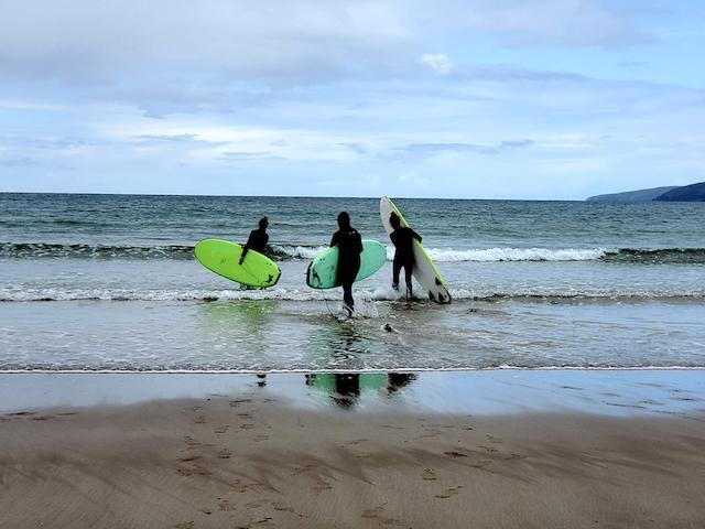 Surfers in Ireland