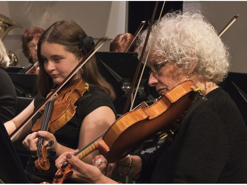 People playing violin