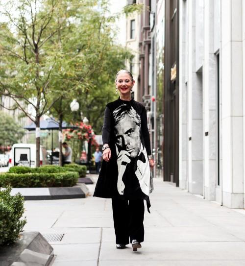 Older Woman Walking in the Street