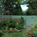 3._Front_Garden with Fence_in_front_of_hidden_compost_area