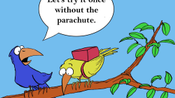 Birds Joking Cartoon