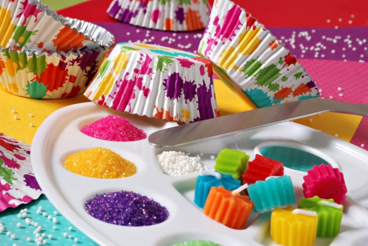 cake decorations and glitter