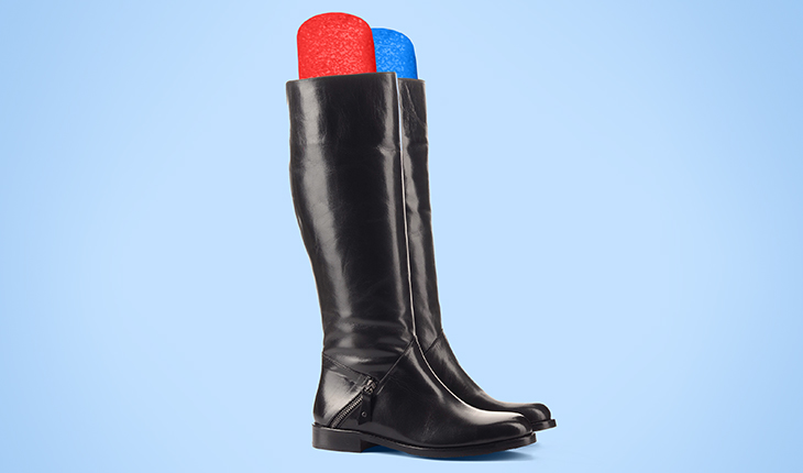 Store Your Boots with…. Pool Noodles