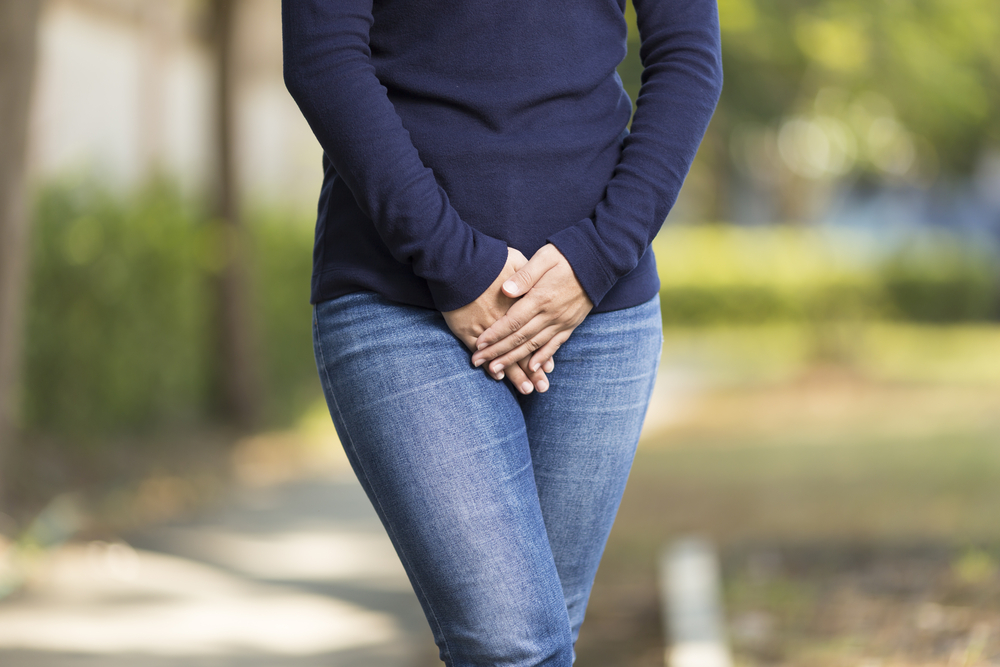 Woman with yeast infection