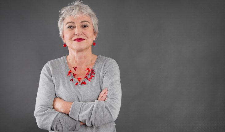 confident older woman
