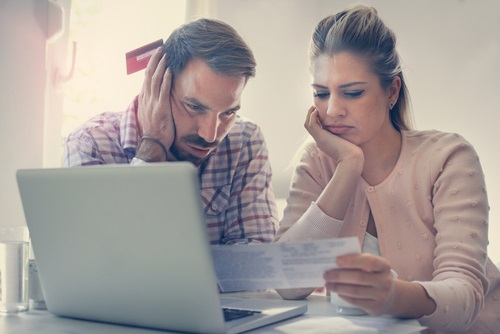 Couple worried about money