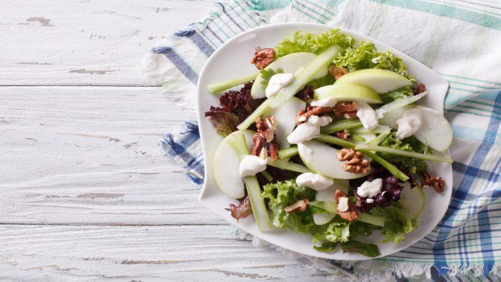 Curried Peanut Apple Celery Salad