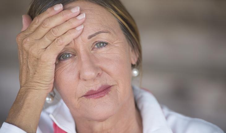 Depressed mature woman