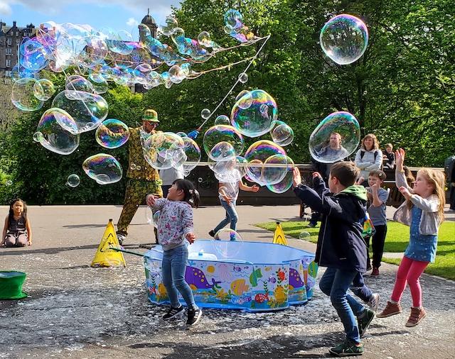 bubbles in Edinburgh