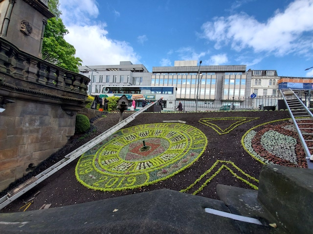 floral clock in Edinburgh