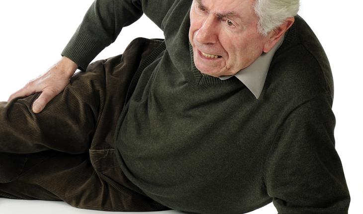 Elderly man has fallen