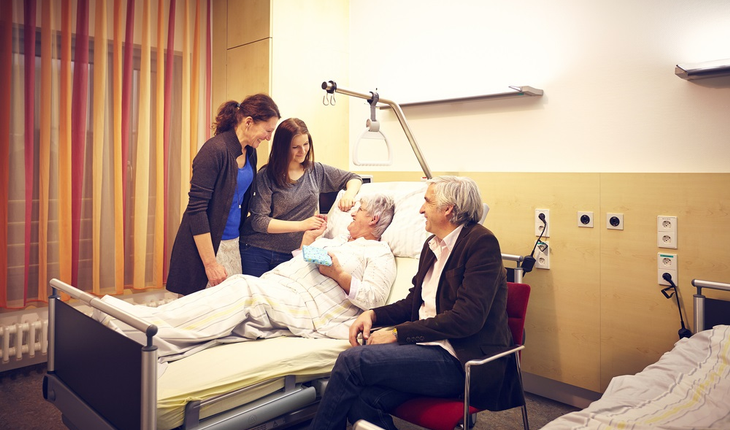 Family of hospital patient