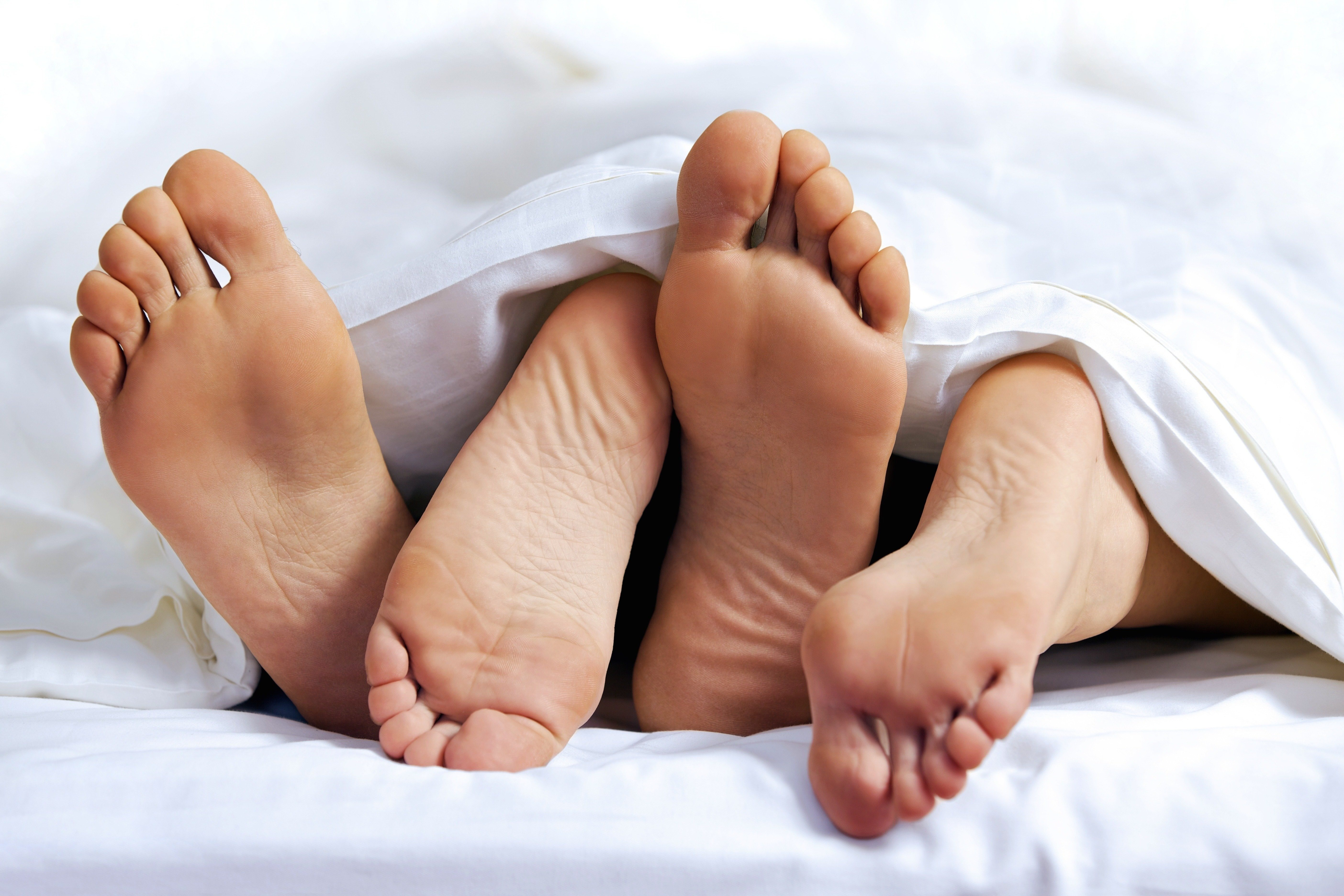 Feet of a couple