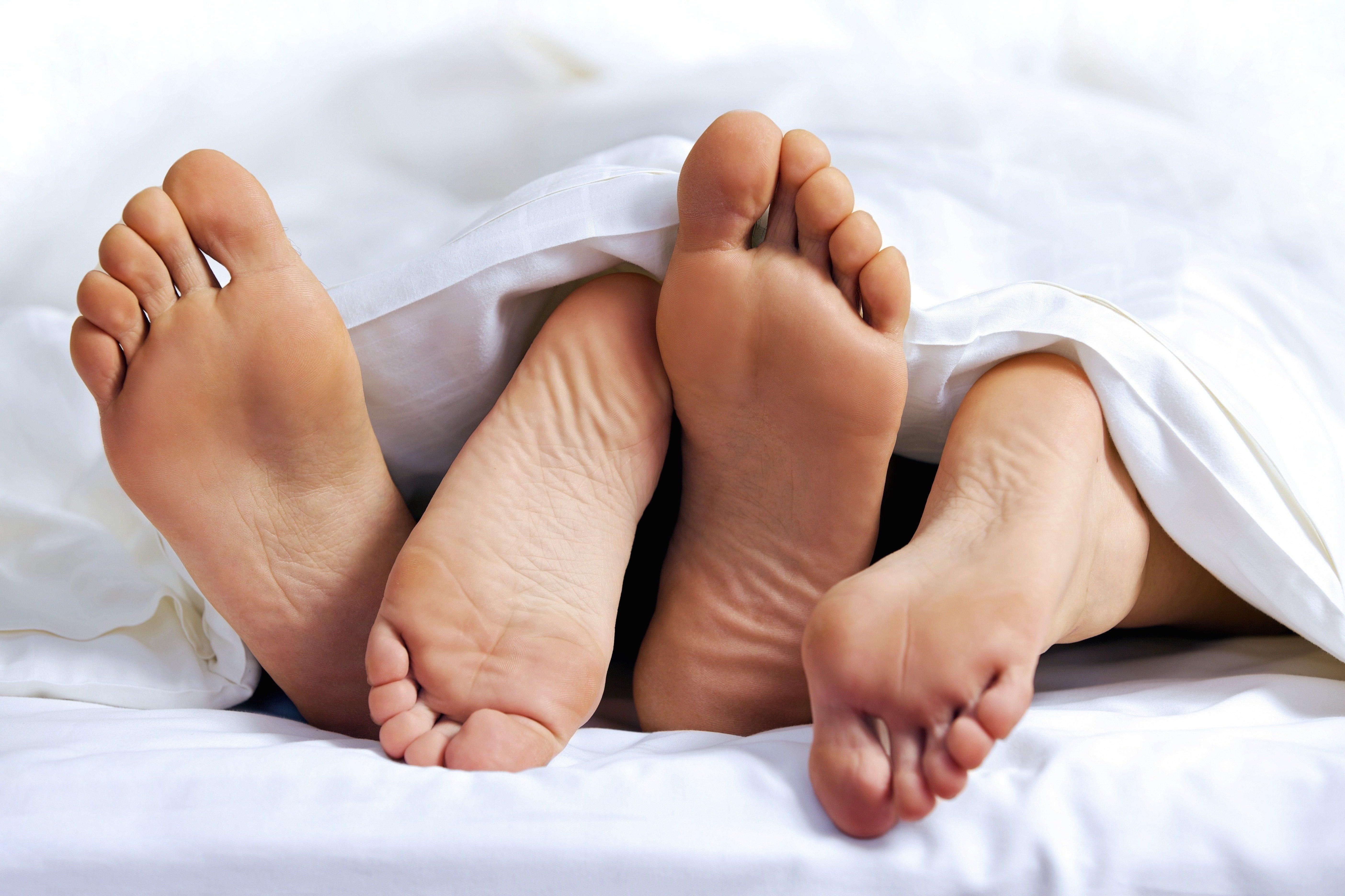 Feet of a couple