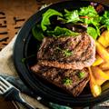 GrilledPeach+BeefSteakSalad