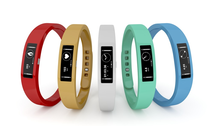 Group of fitness trackers