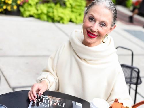 Mature Woman Smiling outside