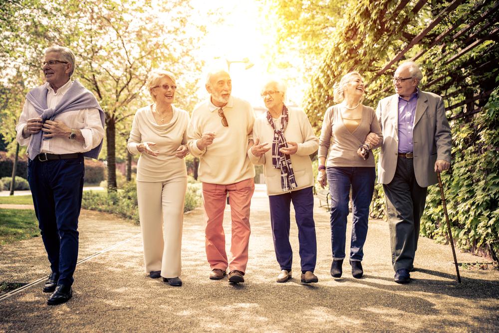 Happy older people