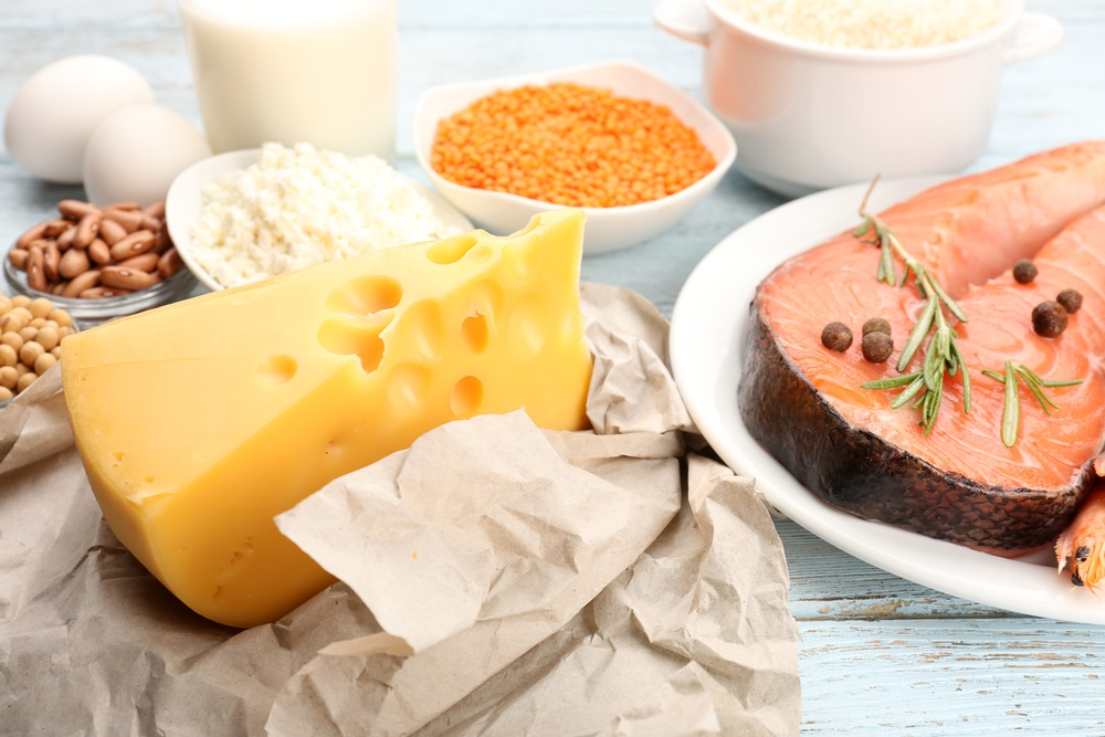 High protein food assortment