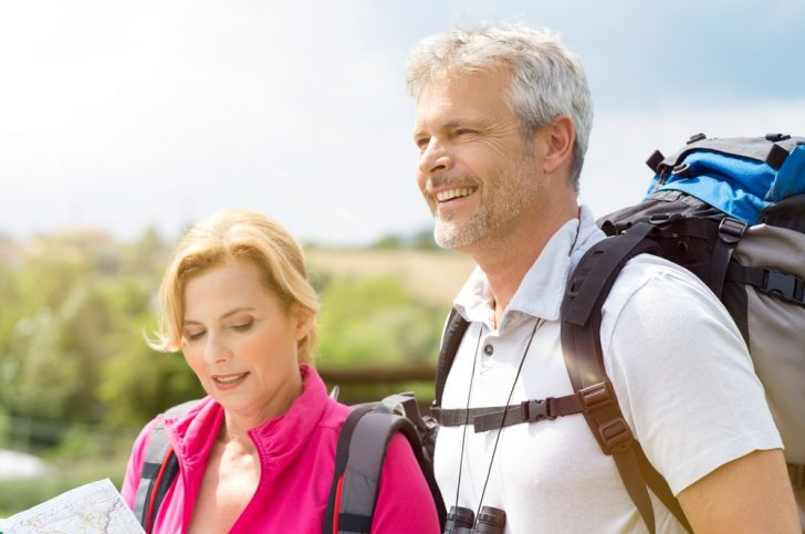 hikers on path during vacation
