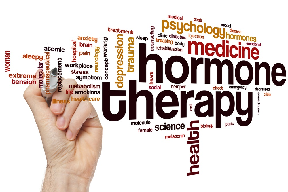 Hormone therapy word cloud
