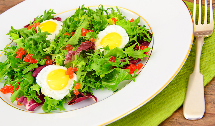 leafy greens and eggs salad