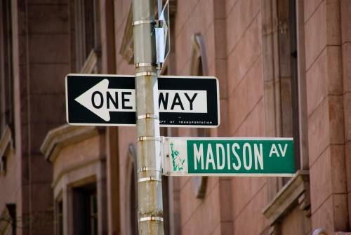 Madison Avenue Street Sign