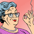 Grandma Smoking