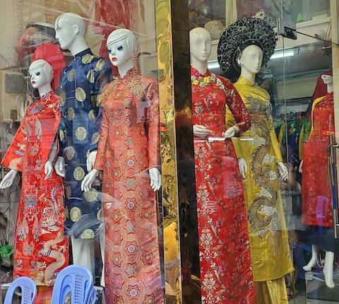 ao dai brocade. Ho Chi Minh City