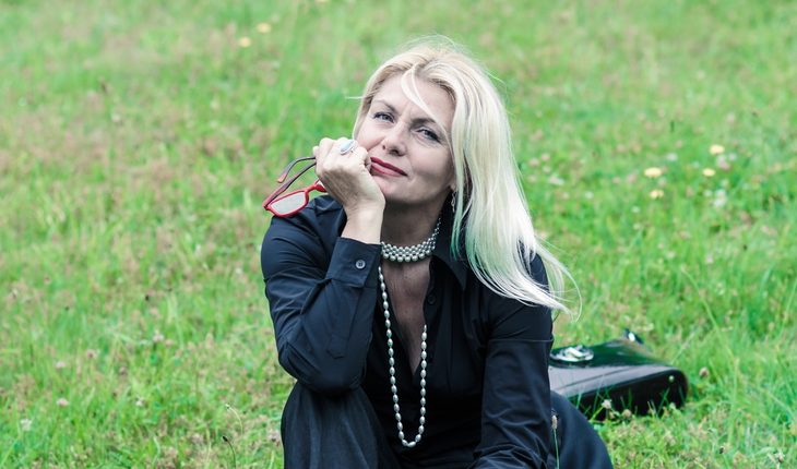 Mature woman in park