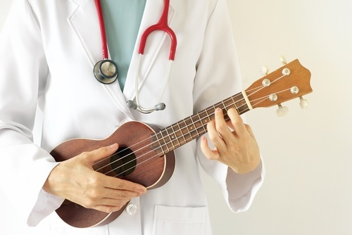 Doctor with banjo