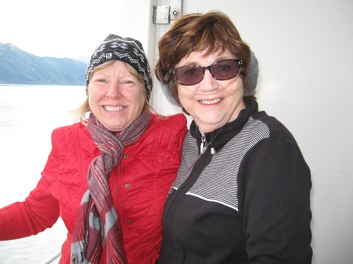 Nancy and Barbara on a chairlift