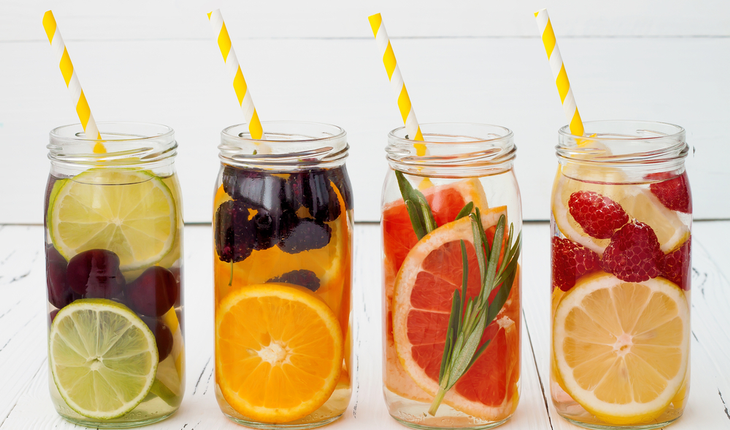 infused water with fruits