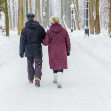 Grandfather,And,Grandmother,On,A,Walk,In,The,Winter,In