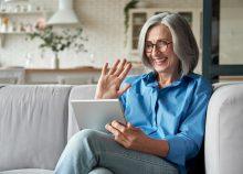 older woman on Zoom