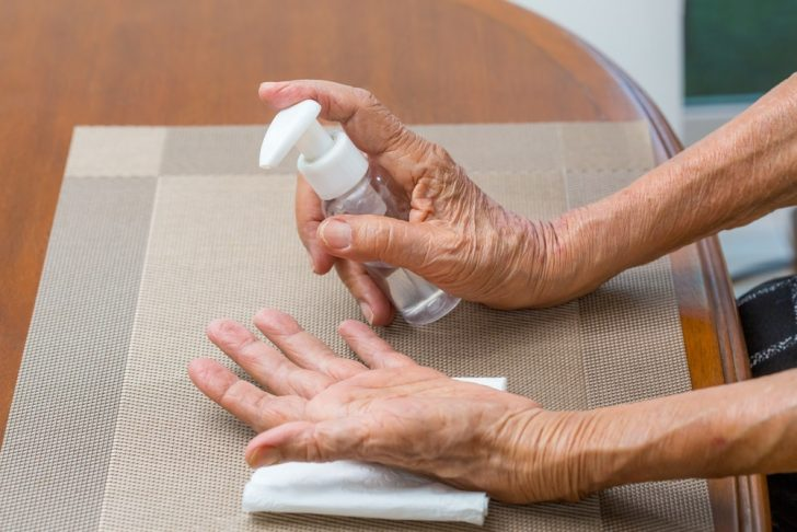 older-woman-washing-hands