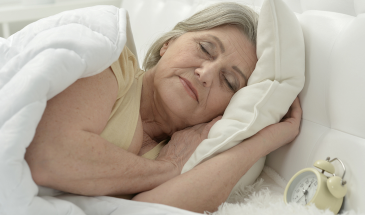Sleeing mature woman