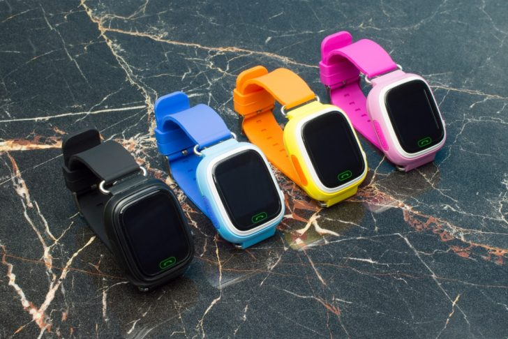 Smart watches of different colors