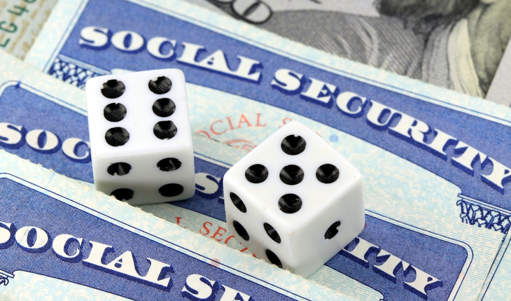 Social Security Card and dice