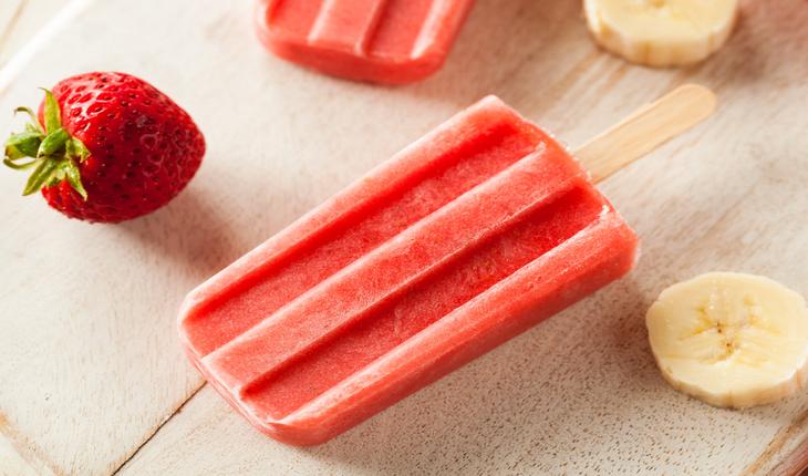 Strawberry + Banana Yogurt Pops