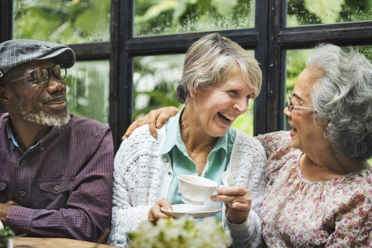 three-senior-friends