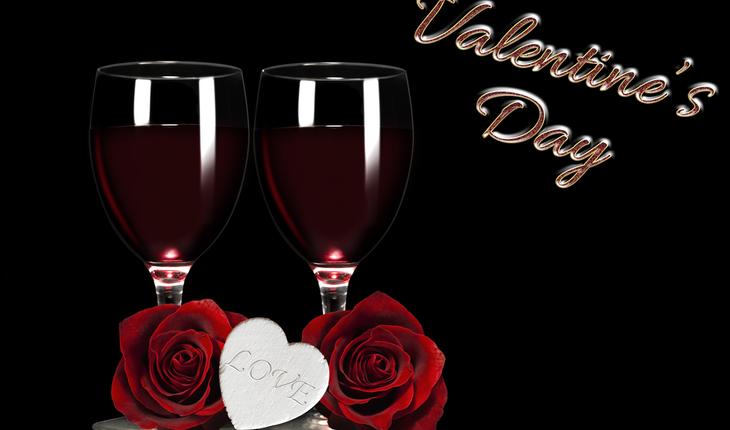 Valentine wine toast