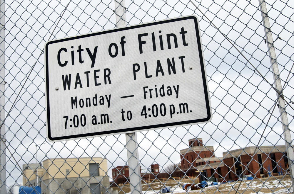 Flint Water Plant sign