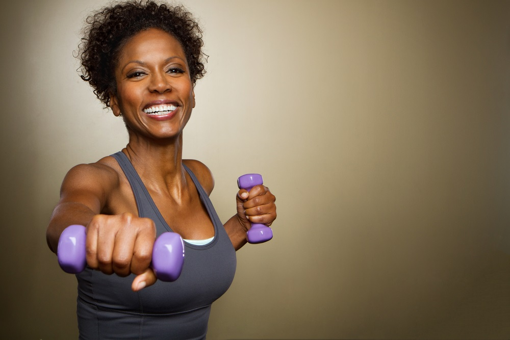 Woman lifting weights