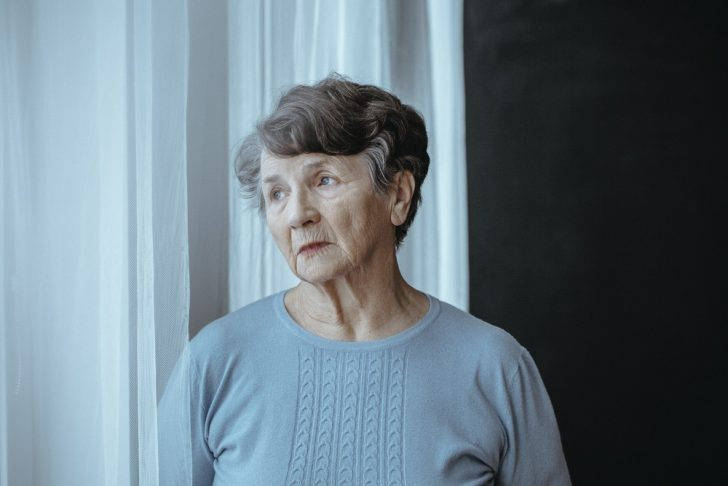 Woman with Alzheimer's