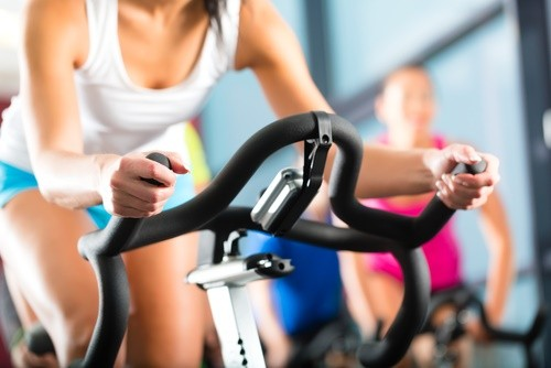 bicycling in gym
