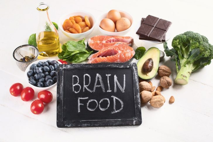 brain-food - assortment of fruits and vegetables