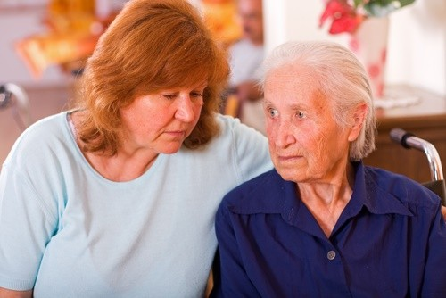 unhappy caregiver